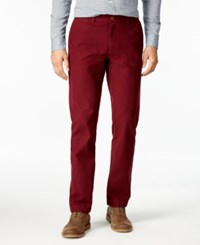 Tommy Hilfiger Men's Tailored Fit Mercer Micro Grid Pants Harvard Red