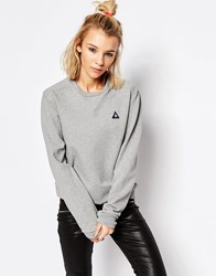 Le Coq Sportif Oversized Fit Grey Logo Sweatshirt Light Heather Grey
