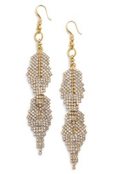 Badgley Mischka Women's Crystal Drop Earrings Gold