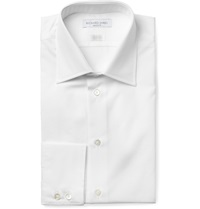 Richard James White Cotton Poplin Shirt