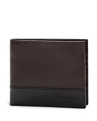 Ted Baker Mixed Leather Bifold Wallet Black