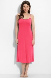 Women's Natori 'Shangri La' Scooped Back Knit Gown Fuchsia