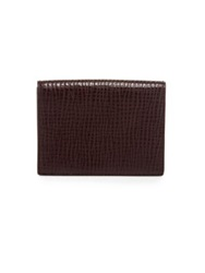 Jil Sander Folding Credit Card Wallet Dark Red Navy
