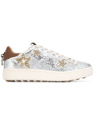 Coach Glitter Lace Up Sneakers Metallic
