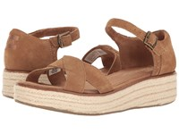 Toms Harper Wedge Toffee Suede Women's Wedge Shoes Brown
