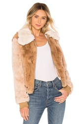 Heartloom Ryder Rabbit Fur Jacket Brown