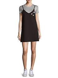 Saks Fifth Avenue Red Graphic Tunic Dress Black Heather Grey