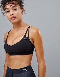 Puma Strap Detail Bra In Black