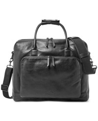 Fossil Carson Leather Traveler Black