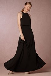 Anthropologie Iva Crepe Maxi Black