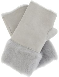 Karl Donoghue Fingerless Lambskin Gloves Grey Melange