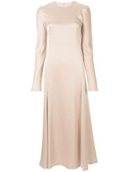 Camilla And Marc Antonelli Long Sleeve Dress Gold