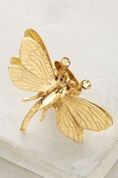 Anthropologie Dragonfly Ring Gold