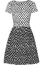 Oscar De La Renta Polka Dot Cotton Blend Poplin Dress
