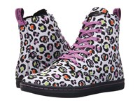 Dr. Martens Hackney 7 Eye Boot White Skleopard Twill Canvas Women's Lace Up Boots Animal Print