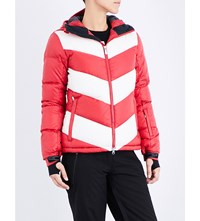 Perfect Moment Super Day Quilted Shell Jacket Red Snow White