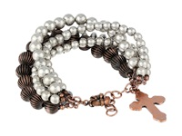 Gypsy Soule Multi Strand Silver And Copper Bead Bracelet Silver Copper Bracelet Black