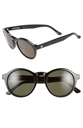 Electric Eyewear 'Reprise' 50Mm Round Sunglasses Gloss Black Grey