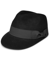 Popz Topz Men's Wool Fedora Black