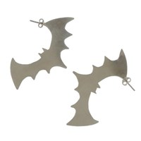 Metrix Jewelry Sterling Silver Bat Stud Earrings