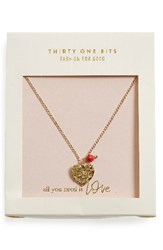 31 Bits Women's Heart Charm Necklace