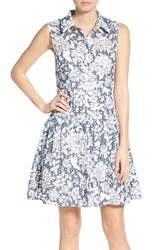 Betsey Johnson Women's Fit And Flare Shirtdress
