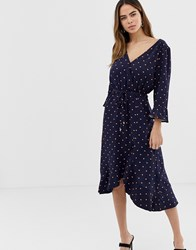 Oasis Heart Wrap Dress Multi