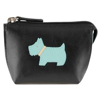 Radley Heritage Dog Small Leather Coin Purse Black