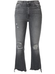 Mother The Hustler Cropped Jeans Grey
