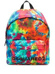 Dsquared2 Tie Dye Print Backpack Green