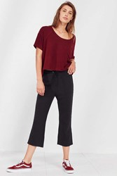 Out From Under Nina Cropped Kick Flare Sweatpant Black