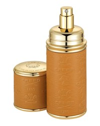 Logo Etched Leather Atomizer Gold Camel Creed