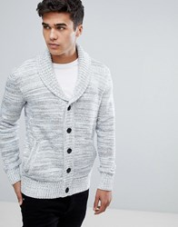 Tom Tailor Shawl Collar Cardigan In Stone 2101