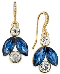 Charter Club Gold Tone Blue And Clear Crystal Drop Earrings Only At Macy's