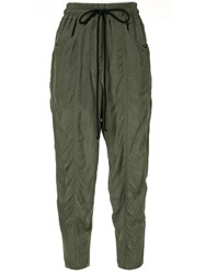 Song For The Mute Drawstring Fitted Trousers Green