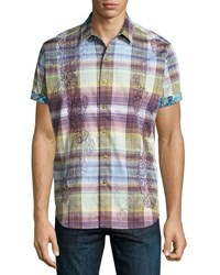 Robert Graham Beatty Short Sleeve Plaid Shirt Multi