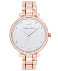 Charter Club Women's Rose Gold Tone Bracelet Watch 36Mm Only At Macy's