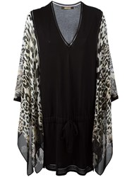 Roberto Cavalli Leopard Print Shift Dress Black