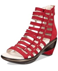 Jambu Women's Brookline Wedge Sandals Women's Shoes Deep Red Solid