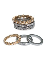 Abs By Allen Schwartz Rebel Soul Three Piece Pave Ring Set Two Tone