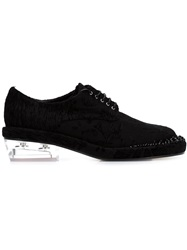 Simone Rocha Clear Heel Derby Shoes Black