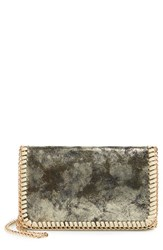 Chelsea 28 Chelsea28 Mini Faux Leather Clutch Metallic Gold Crackle