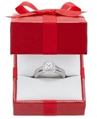 Marchesa Celeste Halo By Certified Diamond Split Shank Engagement Ring In 18K White Gold 1 1 5 Ct. T.W.