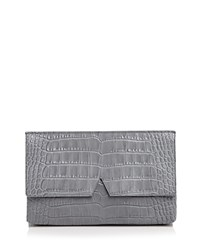 Vince Clutch Signature Croc Stamped Medium Chambray