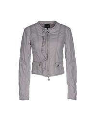 Twin Set Jeans Coats And Jackets Jackets Women Light Grey