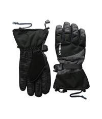 O'neill Freedom Gloves Black All Over Print White Extreme Cold Weather Gloves