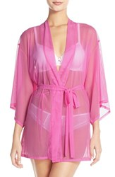 Women's Josie 'Slip Into One Happi Coat' Sheer Short Robe