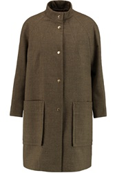Marni Cotton And Wool Blend Coat Green