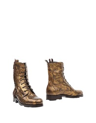 Byblos Ankle Boots Gold