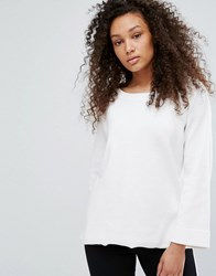 Moss Copenhagen Fluted Sleeve Blouse Off White
